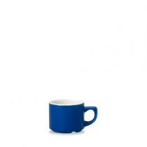 Churchill New Horizons Colour Glaze Maple Coffee Cup Blue 11cl