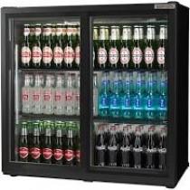 Autonumis Popular Double Sliding Door Bottle Cooler Black