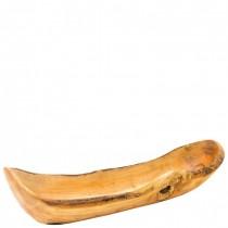 Olive Wood Narrow Boat 41cm
