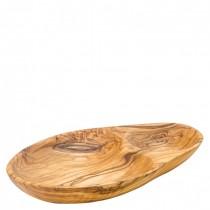 Olive Wood Divided Serving Dishes 21cm