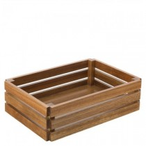 "Acacia Food Presentation Crate 12.5"" x 8.5"""