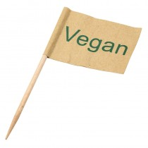 Vegan Flag Pick 6.5cm