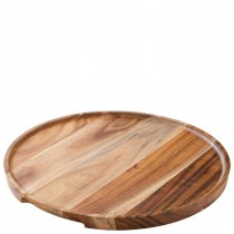 Acacia Wood Round Platter/Pizza Boards 30cm
