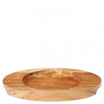 Oval Acacia Wood Board 22 x 16cm