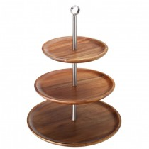 3 Tiered Acacia Wooden Sharing Platter