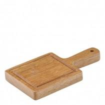 Acacia Wood Chicago Handled Mini Board 8 x 7cm