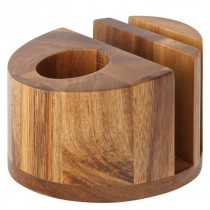 Acacia Menu/Napkin & Cutlery Holder 12.5cm
