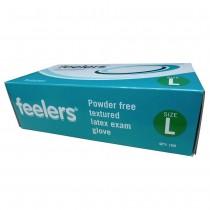Latex Powder Free White Disposable Gloves Large