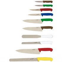 Genware Colour Coded 10 Piece Knife Set & Knife Case