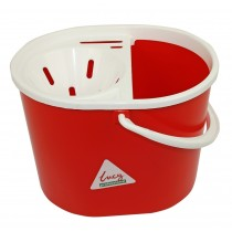 Lucy Oval Mop Bucket & Sieve Red
