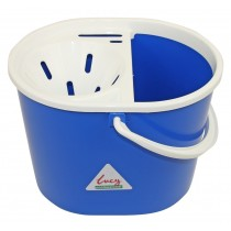 Lucy Oval Mop Bucket With Sieve Blue