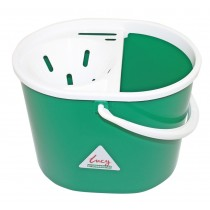 Lucy Oval Mop Bucket With Sieve Green