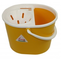 Lucy Oval Mop Bucket With Sieve Yellow