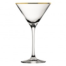 City Martini Glass Gold Rim 21cl 7.25oz