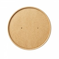 Disposable Kraft Paper Vented Lids For Heavy Duty Soup Container 26oz-32oz