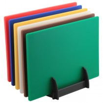 Colour Coded Chopping Boards 1/2inch Set & Rack
