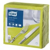 Tork Lime Dinner Napkins 39cm 2ply 8 Fold