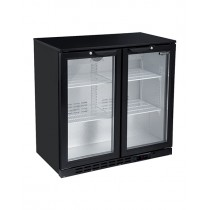 Blizzard LOWBAR2 Double Door Low Height Bottle Cooler