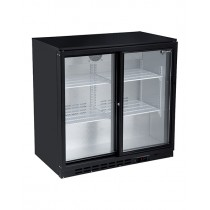 Blizzard LOWBAR2SL Double Sliding Door Low Height Bottle Cooler