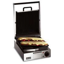 Lincat Single Panini Grill (Ribbed Lower and Upper Plates) 2.25kW