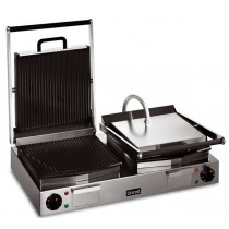 Lincat Twin Panini Grill (Ribbed Upper and Lower Plates) 2.25kW