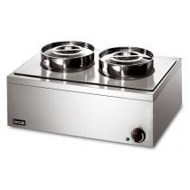 Lincat LRB2 Bain Marie Double Round Pots Dry Heat