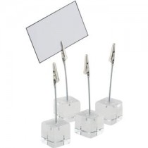 Acrylic Table Number Clips with Labels
