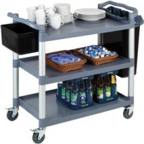 Polypropylene Aluminium 3 Tier Serving Trolley