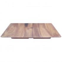 Frostone Melamine Square Tray Acacia Wood 35.5cm