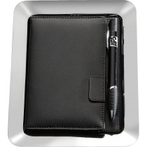 Stainless Steel Tray & Leather Bill Presenter
