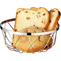Chrome Plated Bread Basket Stackable 18cm
