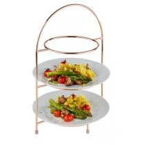 Copper 3 Tier Cake Plate Stand 29 x 19.5cm