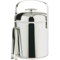 Stainless Steel Ice Bucket with Tongs 14cm