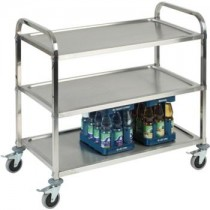 Stainless Steel 3 Tier Serving Trolley
