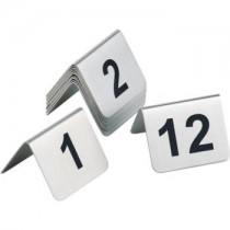 Satin Polished Table Numbers 1-12