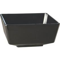 Float Melamine Square Bowl Black 9cm