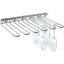 Chrome Plated Wire Glass Rack