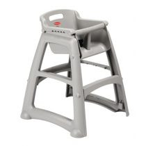 Plastic High Chair Platinum