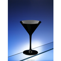Black Plastic Polycarbonate Martini Glasses 7oz 200ml