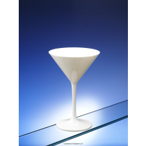 White Plastic Polycarbonate Martini Glasses 7oz 200ml