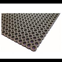 Rubber Floor Mat Black 100 x 150 x 2.3cm