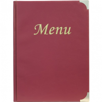 Basic Menu Holder A4 Wine Red