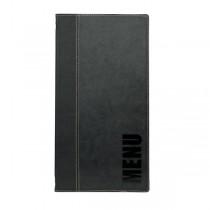 Contemporary Long Menu Holder Black 4 Pages
