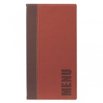 Contemporary Long Menu Holder Wine Red 4 Page