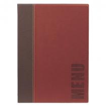 Contemporary Menu Holder A4 Wine Red