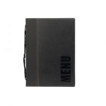 Contemporary Menu Holder A5 Black