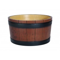 Wood Grain Effect Barrel End Ice Tub 11Ltr Brown