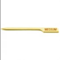 Bamboo Steak Paddle Picks Medium 9cm