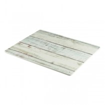 White Wash Wood Effect Melamine Platter 32.5 x 26.5cm