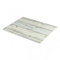 White Wash Wood Effect Melamine Platter 32.5 x 26.5cm